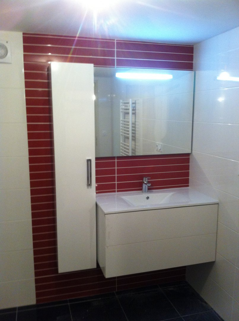 Amenagement installation creation de salle de bains et cabinet de toilette sdbain for Amenagement toilette